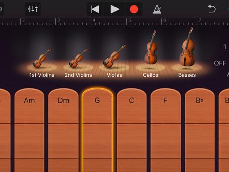 iPhoneアプリ「GarageBand」でオーケストラ演奏♪