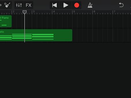 iPhoneアプリ「GarageBand」で小節数変更♪