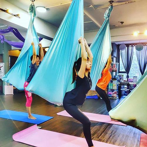 beginner aerial yoga every saturday