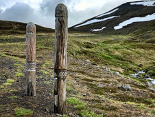 Curved Wooden Post