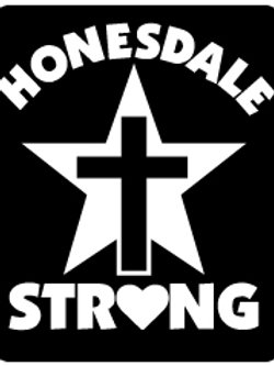 Honesdale Strong Mettallic Sticker