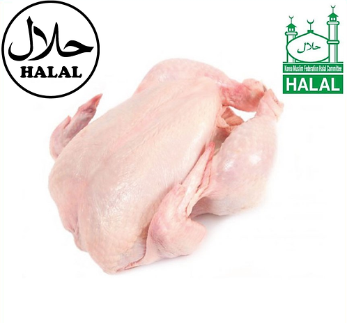 Halal Whole Chicken (National, 1Kg±50g)