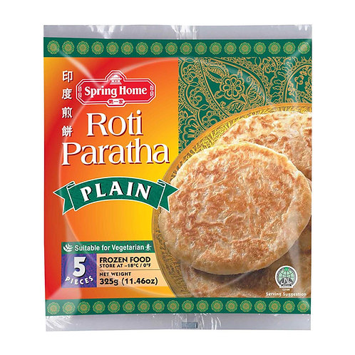 Roti Paratha Plain/Roti Canai (Singapore, 325g/5pcs)