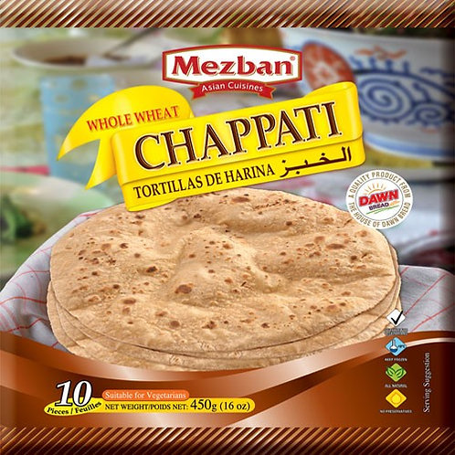 Whole Wheat Chapatti (Mezban, 45g*10EA=450g)