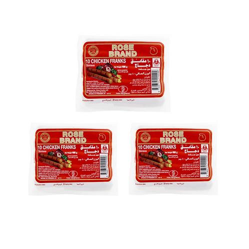 Halal Chicken Frank Sausage (Rose) x 3ea