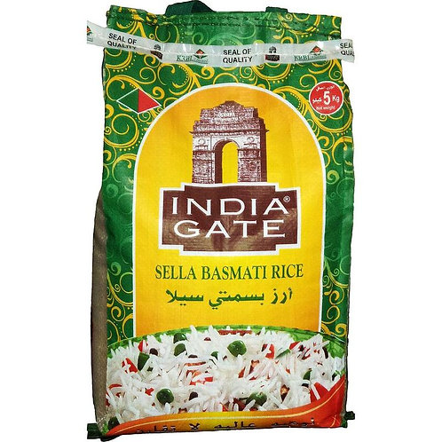 Basmati Sella Rice India Gate - 5Kg