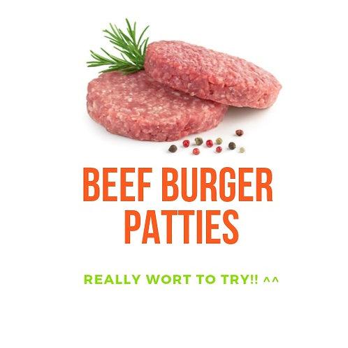 Halal Beef Ham Burger Patty (500g/5~7pieces/Pack - 2000won/100g)