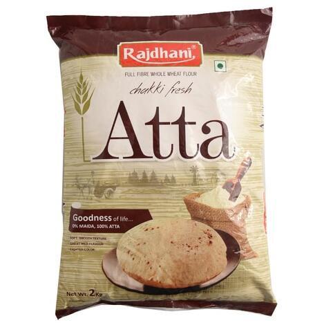 Atta Whole Wheat Flour (Rajdhani) - 2kg