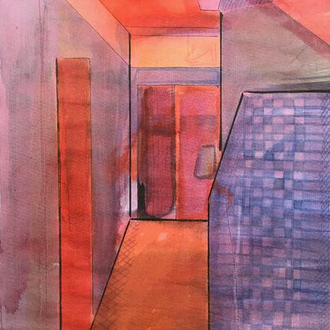 Watercolour Interior Study