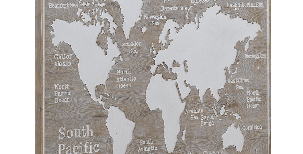Cuadro Cabecero Mapa Mundi pequeño