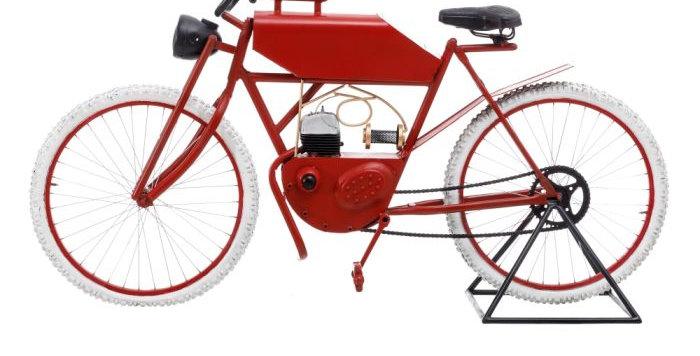 Bicicleta roja Vintage