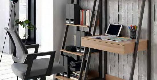 Librero-mesa Lena nogal