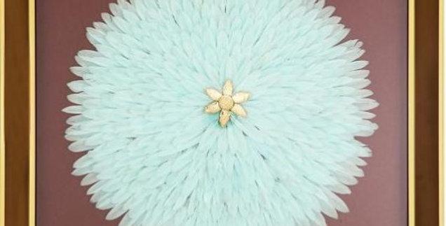 Cuadro plumas azul Lena