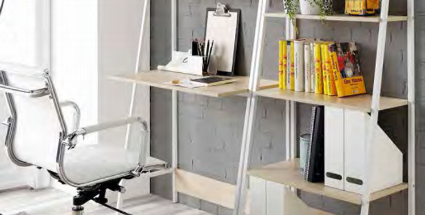 Librero-mesa Lena blanco