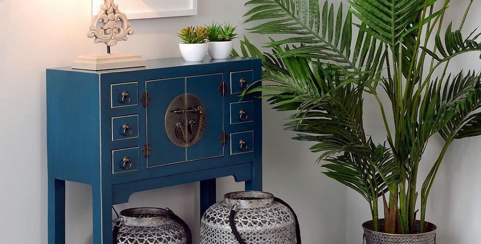 Mueble auxiliar Yakarta pequeño azul