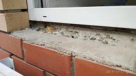 Устранение продувания из-под подоконика, подставочный профиль, наледь на подоконнике, лёд на подоконнике, комплект центр продувание окна