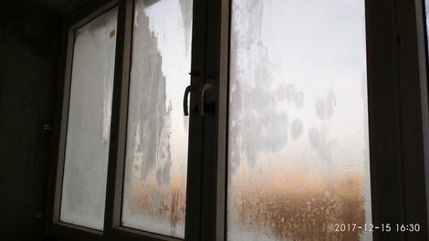 Лёд на стёклах