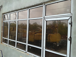 Окно, бронза в массе, коричневое стекло, тонированный стеклопакет, ремонт конструкции