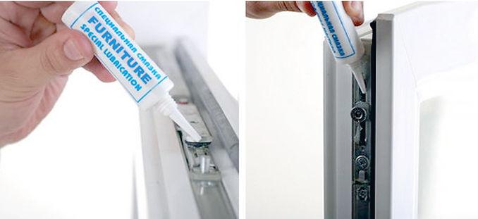 Уход за пластиковыми окнами, как смазывать фурнитуру окна, когда менять уплотнитель, смазка резинки, мытьё окон, чем смазывать механизм на окнах, как правильно ухаживать за окнами, сколько раз смазывать механизм на окне