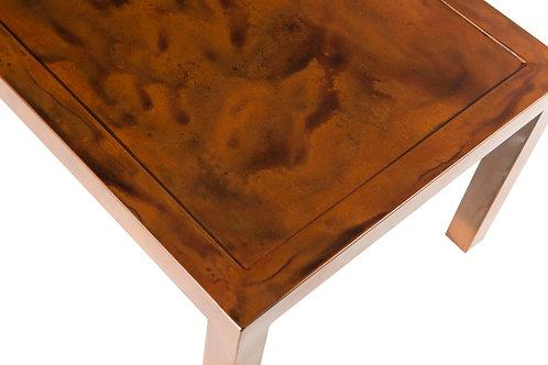 Dark Japanese brown patina steel top
