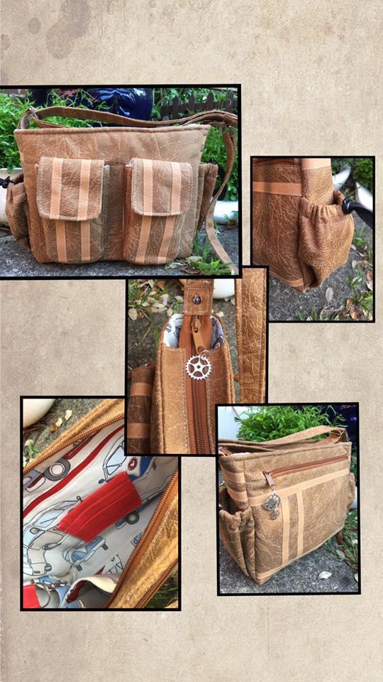 Christine Davies - leather and kraftex exterior