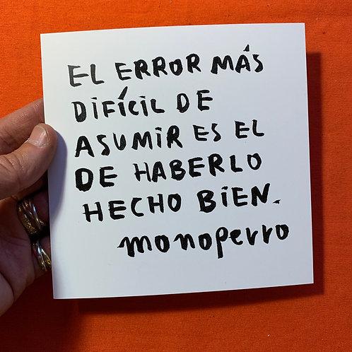 Lámina #cancamusas - El error.