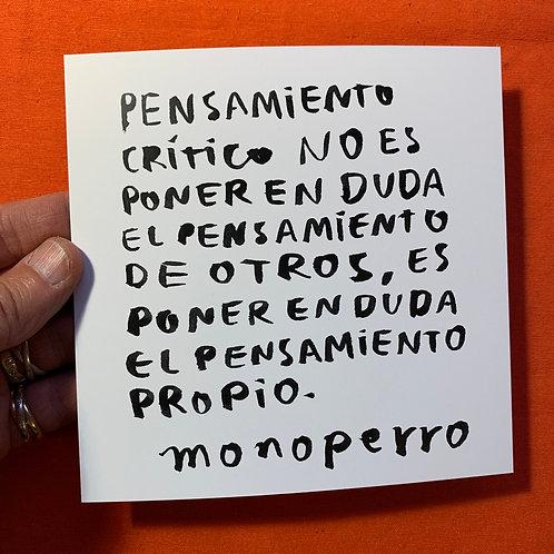 Lámina #cancamusas - Pensamiento crítico.