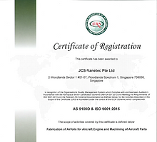 JCS-Vanetec AS9100D - Iss7 (Expiry 5 Nov