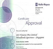 Certificate of Approval - Rolls Royce_ed