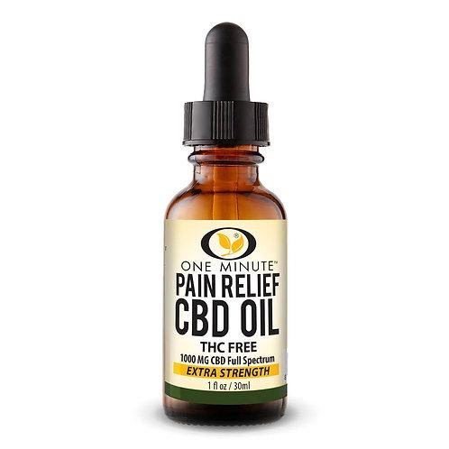 One Minute CBD Oil THC FREE 1000mg