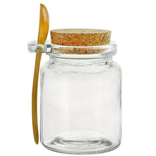 8.5 oz Glass Serving Jar w/spoon