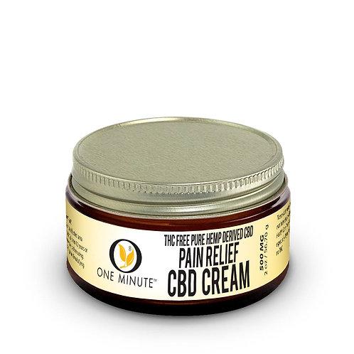 2oz One Minute CBD Cream THC FREE 500mg