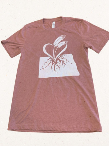Heathered Clay-Sueded Tee