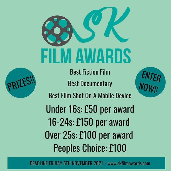 Under 16s £50 per award 16-24s £150 per award Over 25s £100 per award Peoples Choice £100.