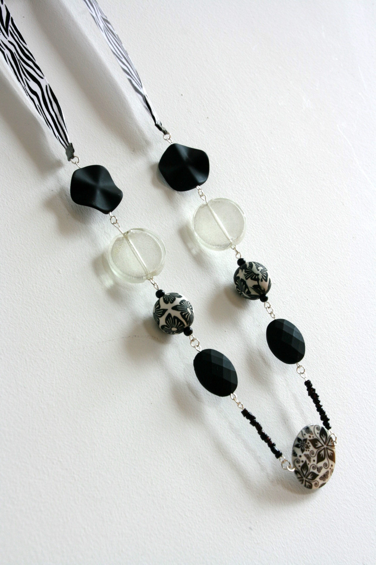 Monochrome necklace.