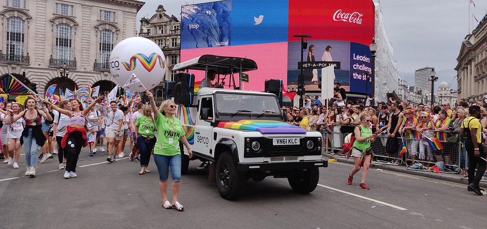 Tune Trucks at London Pride 2019 Serco mobile DJ