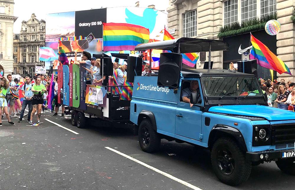 Tune Trucks London Pride Parade 2019 Direct Line float mobile DJ