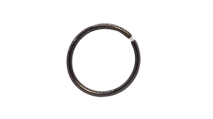 Кольцо 0,8х10 мм цвет черный
