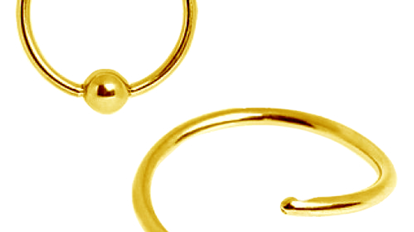 Кольцо анодированная сталь  Gold 0,8х12 мм