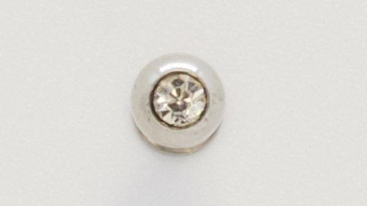 Лабрет хирургическая сталь с прозрачный страз 1,2х8х3 мм