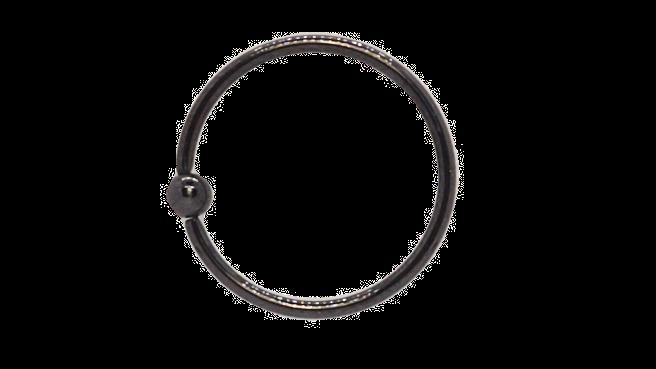 Кольцо хирургическая сталь (цвет черный) 0,8х6х2 мм