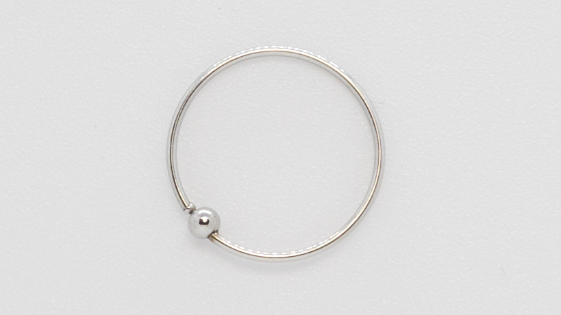 Кольцо для пирсинга  0.8х6х2 мм