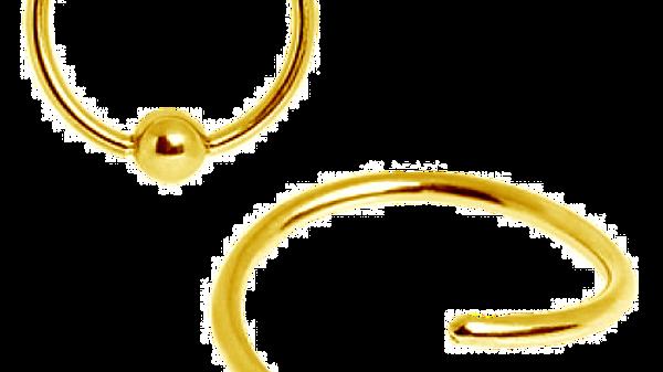 Кольцо  анодированная сталь Gold 0,8х10 мм