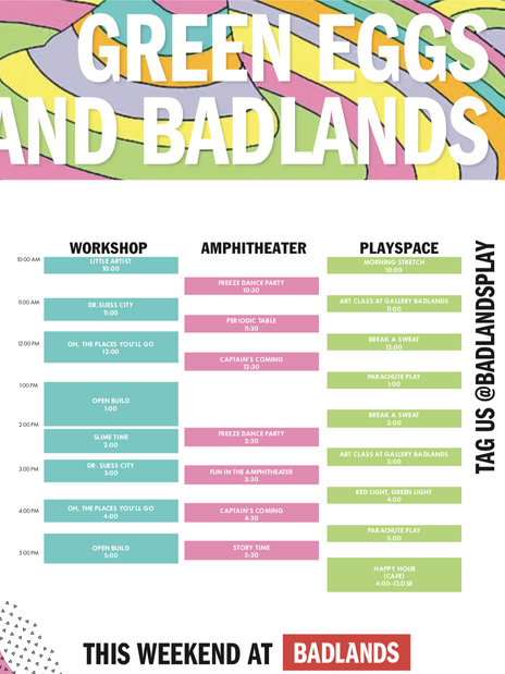 Green Eggs and Badlands- Poster
