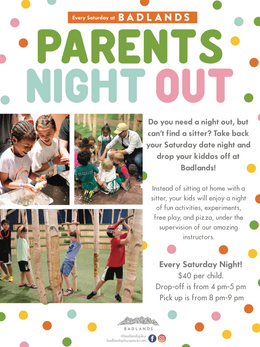 Parents Night Out- Flyer