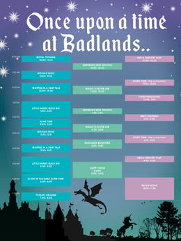 One Upon a Time At Badlands Weekend Programming- Poster