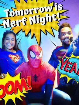 Super Hero Nerf Night-Social Media