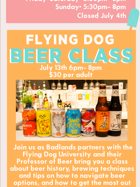 Flying Dog Beer Class Parent Programming-Email
