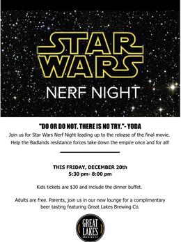 Star Wars Nerf Night- Email