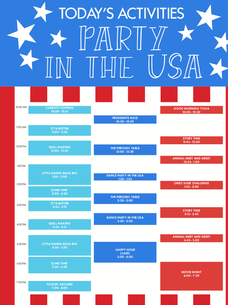 Party in the USA Weekend Programming- Poster